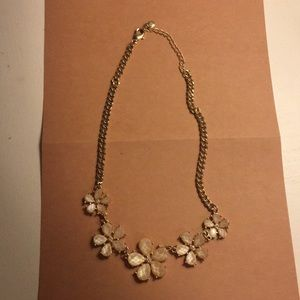 Lauren Conrad Pink Flower Necklace